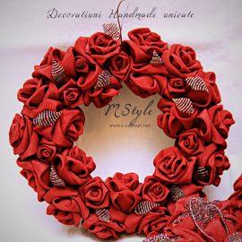 Ornament Crăciun - flori si perle 6