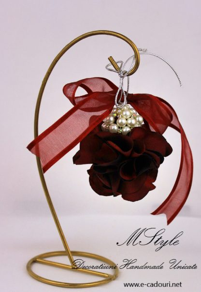 Ornament Crăciun - flori si perle 4