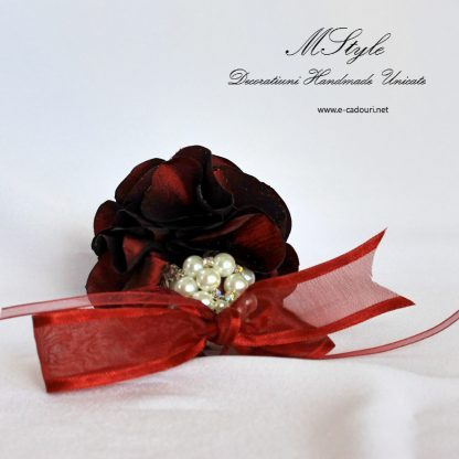 Ornament Crăciun - flori si perle 2