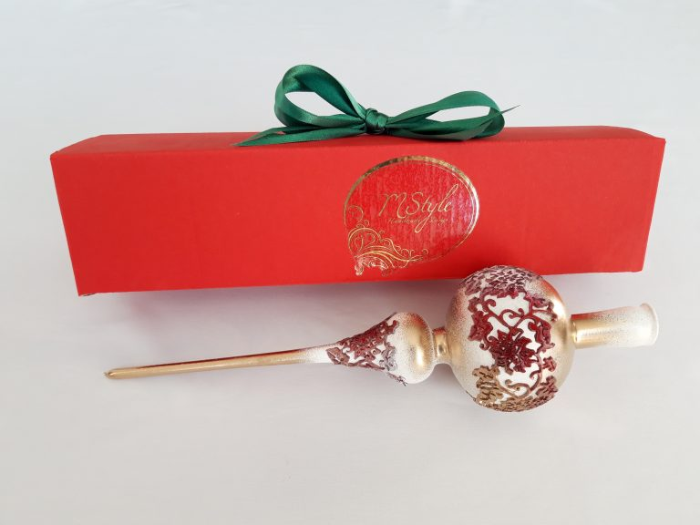 Vârf brad Crăciun cu dantelă silicon, 32cm 1