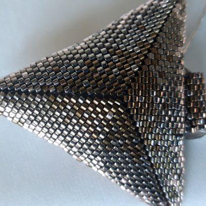 Colier margele Delica metalizate