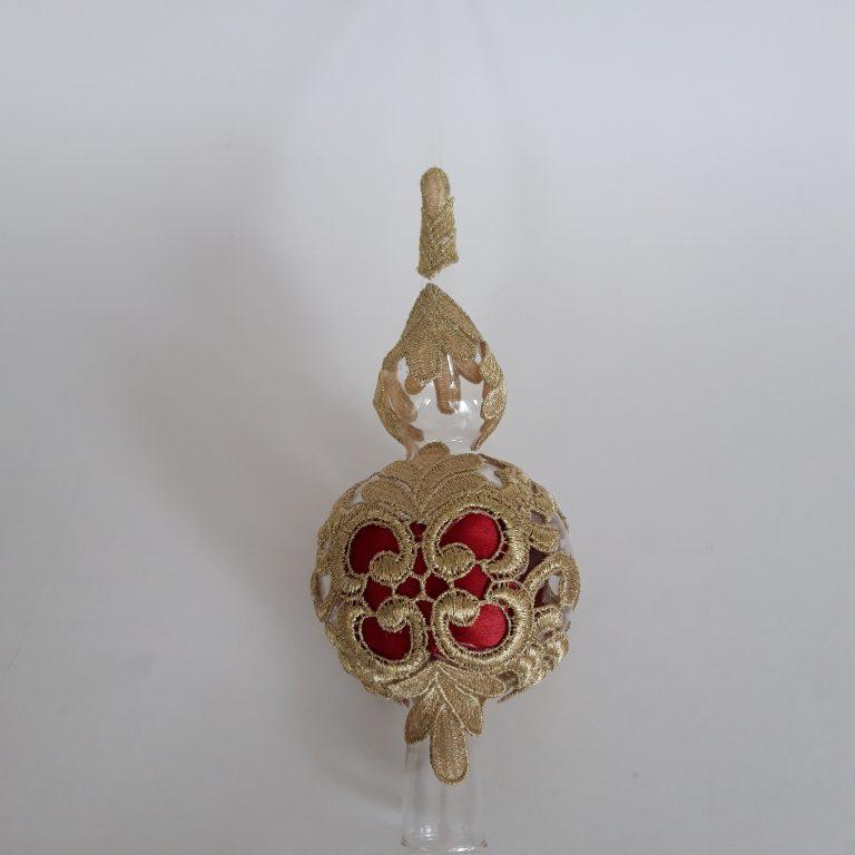 Vârf brad cu dantelă, model gotic, 32cm 4