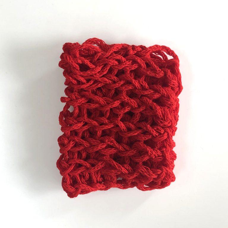 Fular tub roșu XXL handmade