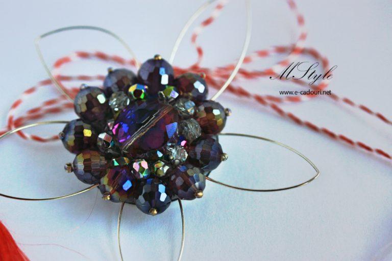 Mărţişor - Broşa cristale faţetate