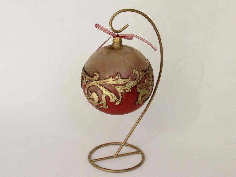 glob craciun auriu rosu gotic