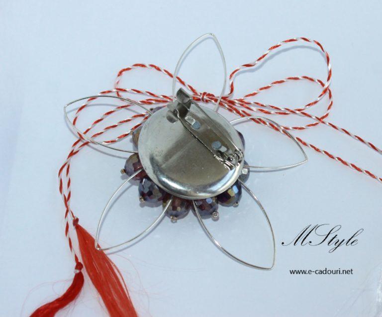 Mărţişor - Broşa cristale faţetate 2