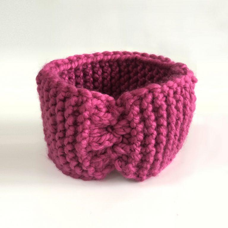 Bentiță roz lată de 11 cm