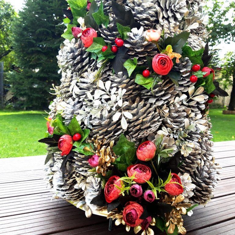 Alternativă brad Crăciun conuri pin 125 cm 1