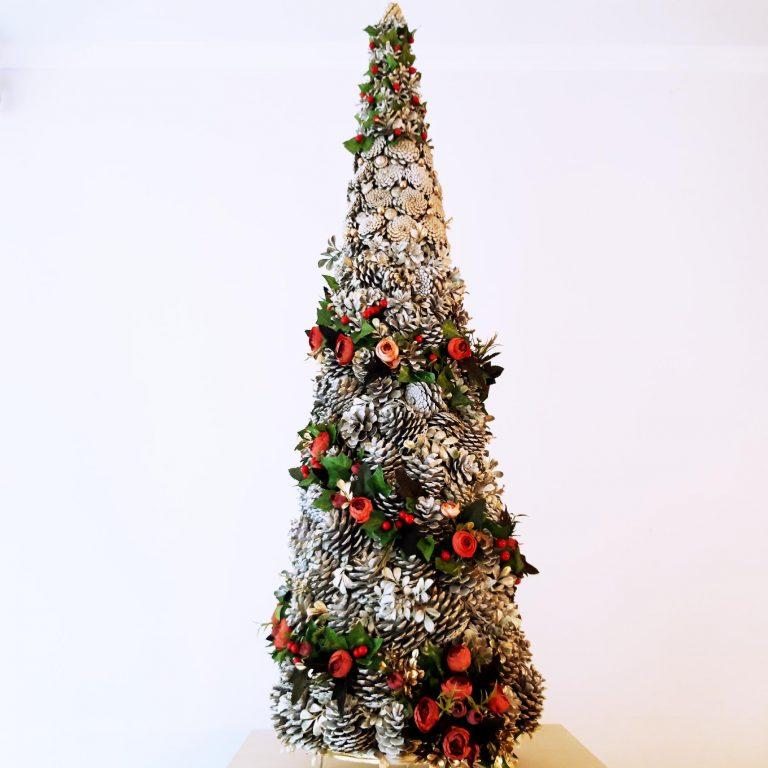 Alternativă brad Crăciun conuri pin 125 cm