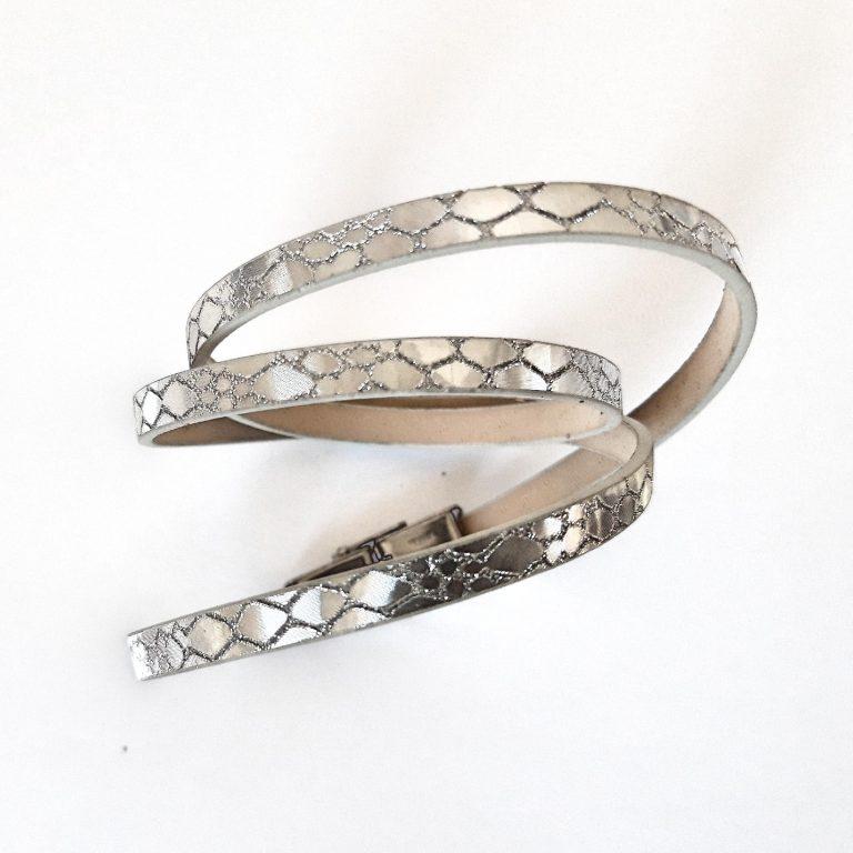 Brățări duble/triple colorate argintie