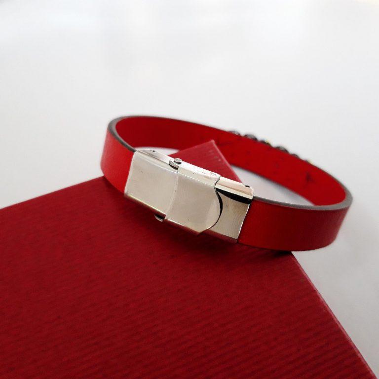 Mărțișoare handmade Brăţări piele roșie 10mm 4