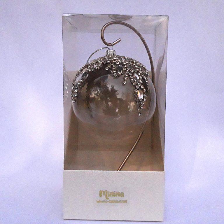 Glob diademă ștrasuri sticlă 10 cm