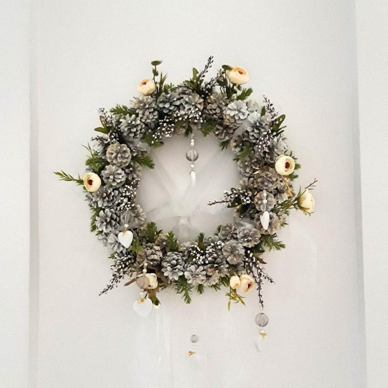 Decor lustră sau perete, 40cm, Crăciun