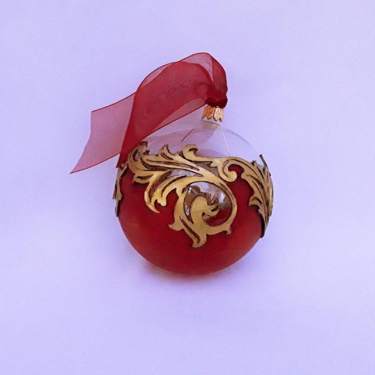 Glob Crăciun model arabesque 10 cm