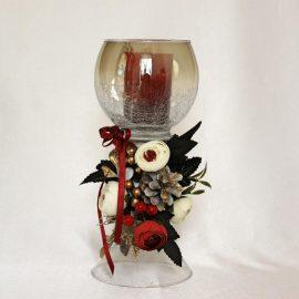 Aranjament lumanare bol sticla