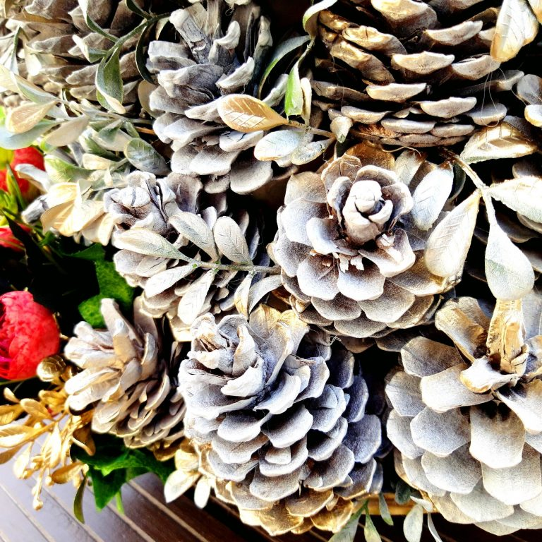 detaliu Alternativă brad Crăciun conuri pin 125 cm