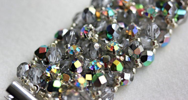 Set Colier şi Brăţară cristale curcubeu 9