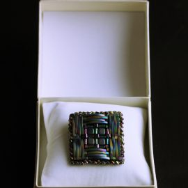 Broşa hematit pătrat 45mm