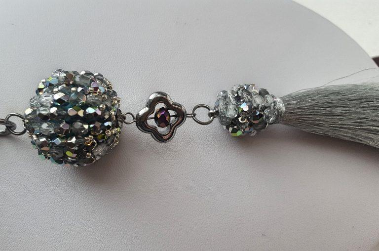Colier pendul cristale curcubeu 4