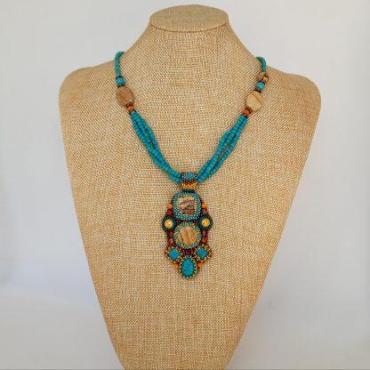 Colier - set turquoise si jasper