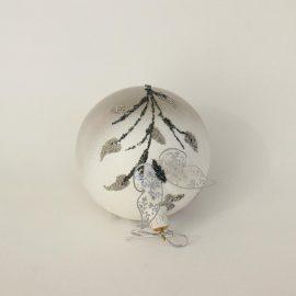 Glob craciun fluture argintiu