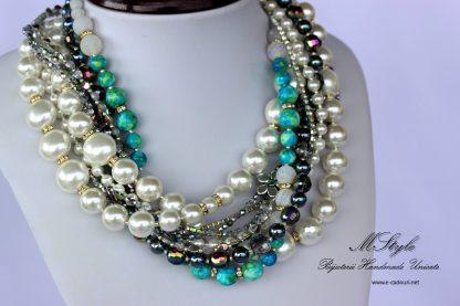 Set perle si agate multisir