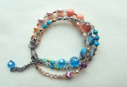 Colier si bratara multisir perle , agate, cristale 3