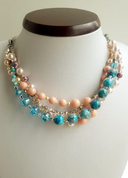 Colier si bratara multisir perle , agate, cristale 4