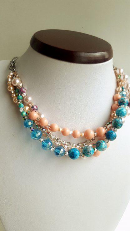 Colier si bratara multisir perle , agate, cristale 5