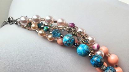 Colier si bratara multisir perle , agate, cristale 6