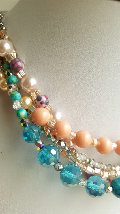 Colier si bratara multisir perle , agate, cristale 7