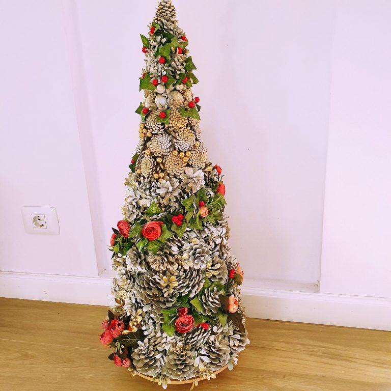 Alternativă brad Crăciun conuri pin 75 cm