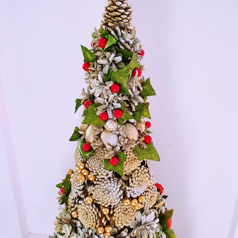 Alternativă brad Crăciun conuri pin 75 cm 1