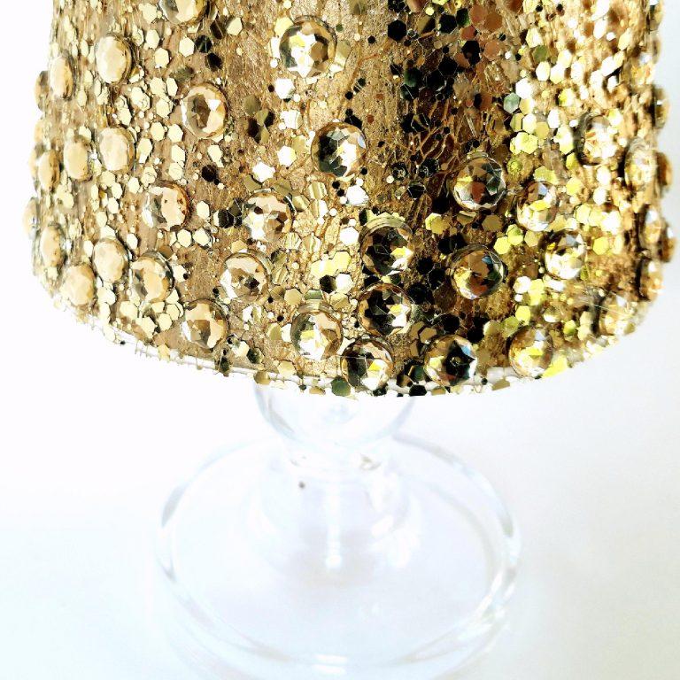 Brăduț auriu decor Crăciun 43cm detaliu