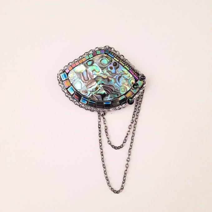 Broșă Paua Shell 60x45 cm