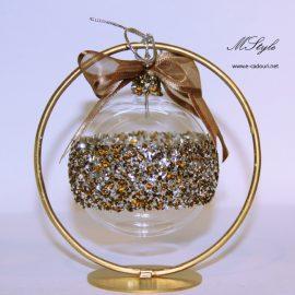 Cadouri Craciun Glob sticla cu stativ in cutie deluxe 4