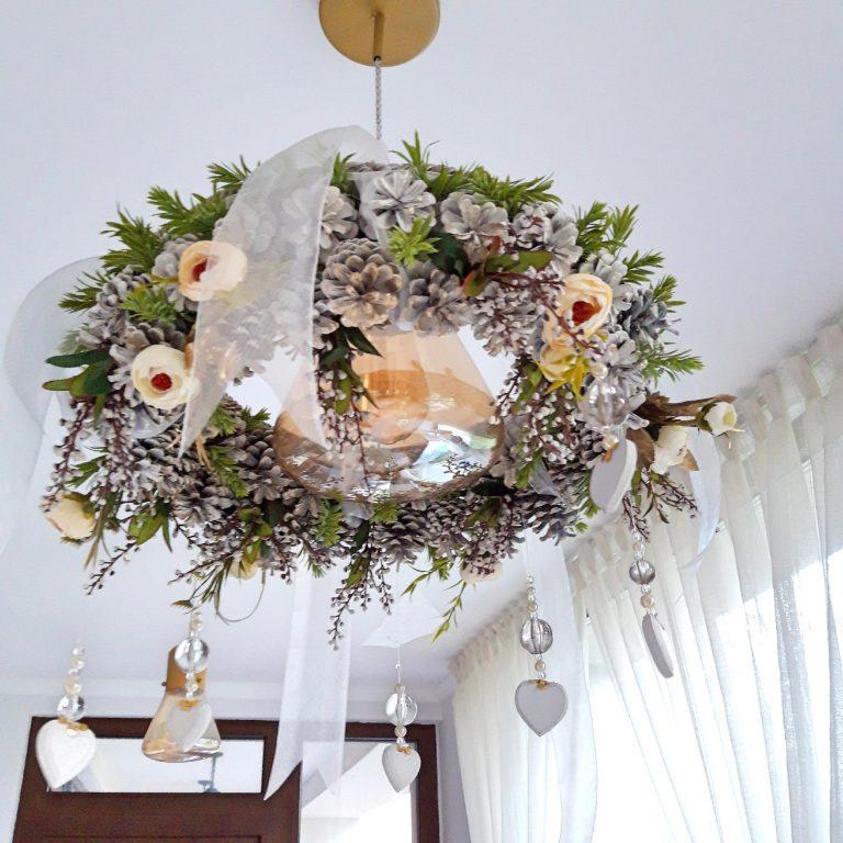 Decor Crăciun lustră sau perete, 40cm 1