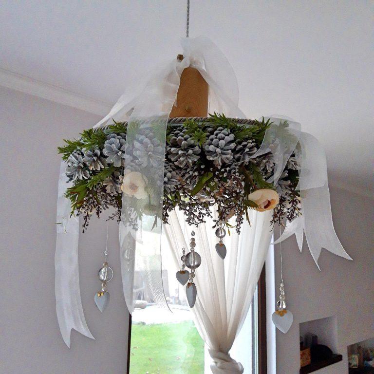 Decor Crăciun lustră sau perete, 40cm