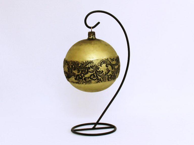 glob craaciun auriu negru