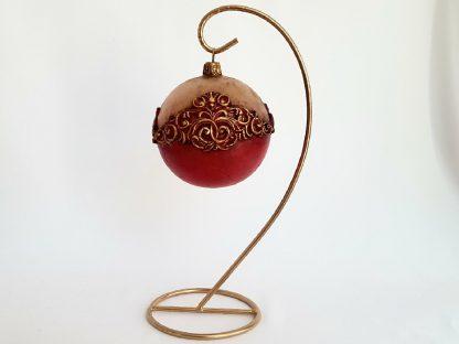 glob craciun 8 cm rosu vintage