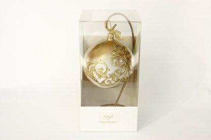 glob craciun alb auriu gotic
