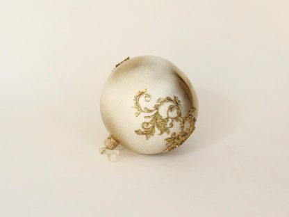Glob craciun alb auriu sclipici