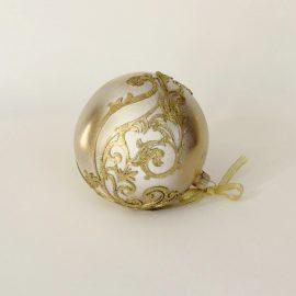 glob craciun alb auriu