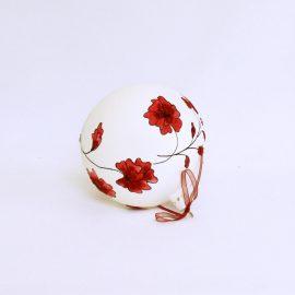 glob craciun alb pictat intreg
