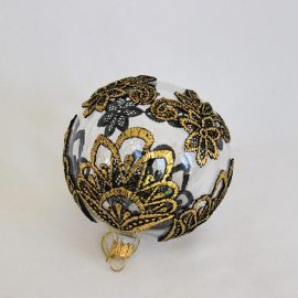 glob craciun dantela negru auriu
