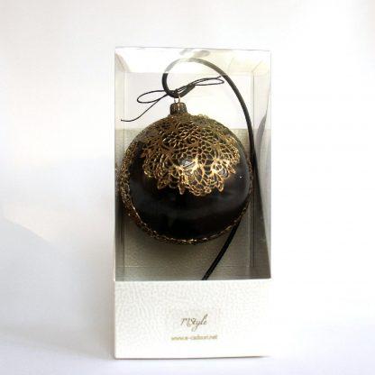 glob craciun negru auriu cutie
