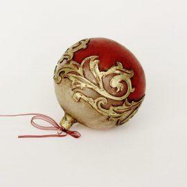 glob craciun rosu auriu gotic