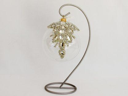 glob craciun sticla diadema strasuri