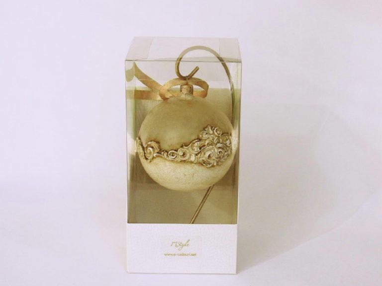 glob craciun sticla efect marmura