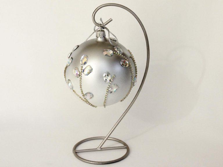 glob craciun strasuri mari argintii